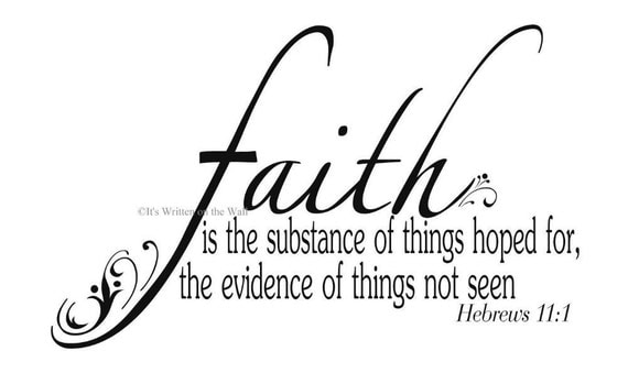 Faith Scripture Quote Religious Vinyl Lettering Wall Saying 61