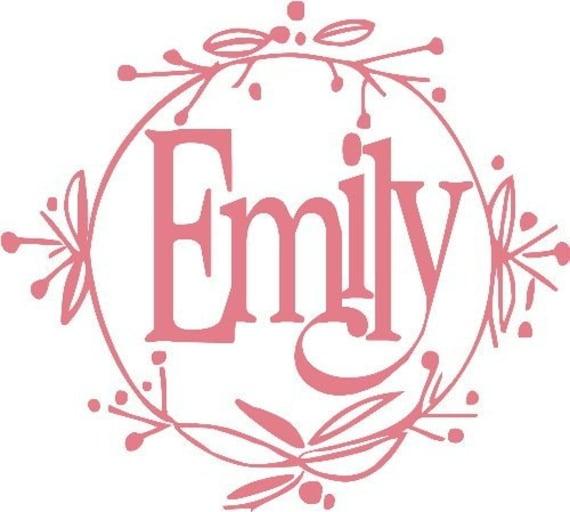 Emily Monogram Initials Girls Personalize Custom Order Vinyl