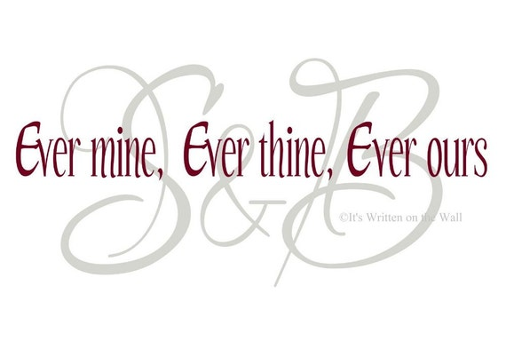ever mine ever thine ever ours personalize initials custom