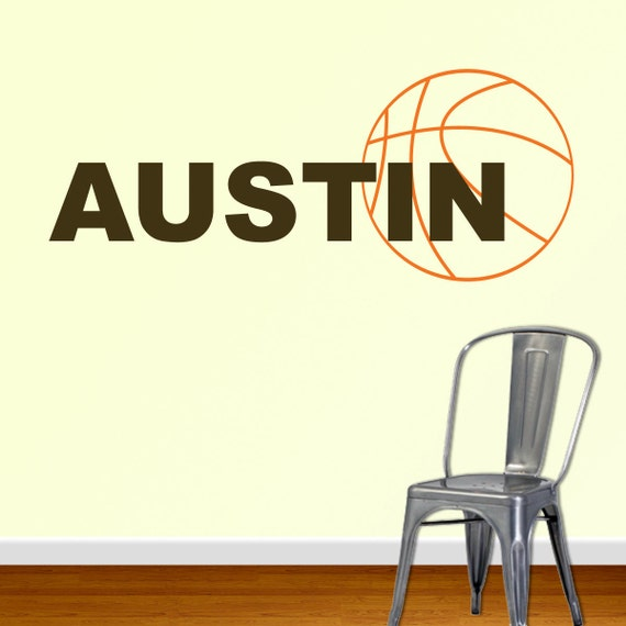 custom basketball name vinyl wall decal by designedbeginnings