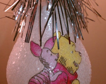 Winnie the Pooh & Piglet keepsake light bulb ornament