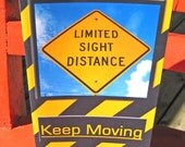 Limited Sight Distance - Keep Moving --- Encouraging Greeting Card --- FREE SHIP