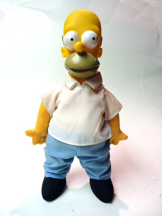 The Simpsons 1990 /1991 Burger King Homer doll figure