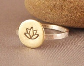 Lotus Ring in Sterling Silver and Brass - Mixed Metals