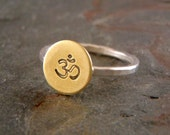Ohm Ring in Sterling Silver and Brass