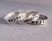 Mothers Ring - Custom Stamped Name Rings Set of Three