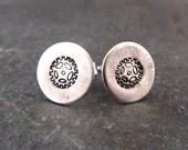 Bike Earrings Sterling Silver Sprocket Studs