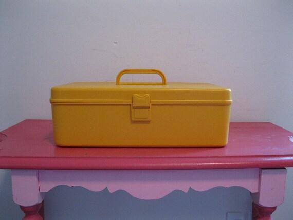 vintage SEWING BOX 1960s 70s bobbin thread holder case