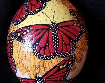butterfly ostrich egg