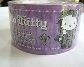Cute Kawaii Hello Kitty Feminine Lolita Gothic Purple Edition Big Deco Tape