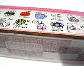 Special Mix Set Of Kawaii Cute Greetings Mini Wooden Rubber Stamp Kit