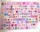 Mix Of Lovely Cute Sticker Pink Sweet Time For Keyboard