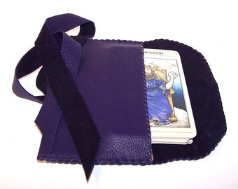 Purple Leather Tarot Bag...Smooth