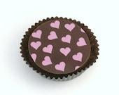 1 Doz VALENTINE HEARTS Designer Chocolate Covered Oreos Wedding Shower Love
