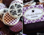 1 Dozen BLACK DAMASK Designer Chocolate Covered Oreos -Halloween Party Wedding Shower Birthday Gift Favor