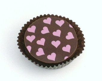 1 Doz VALENTINE HEARTS Designer Chocolate Covered Oreos Wedding Shower Love