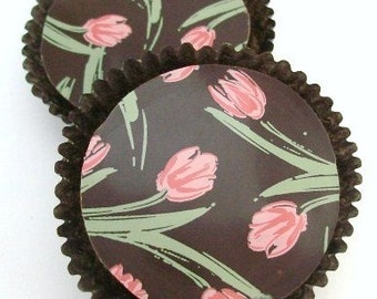 1 Dozen SPRING TULIPS -Designer Chocolate Covered Oreos Mothers Day Birthday Gift Favor Birthday Shower