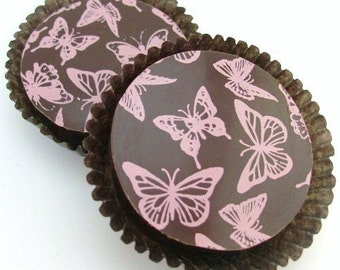 Designer Chocolate Covered Oreos -Pink Butterflies Design Mothers Day Birthday Gift Wedding Shower Favor