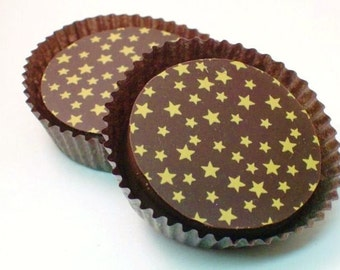 1 Dozen GOLD STARS Designer Chocolate Covered Oreos -Christmas, Party, Gift, Graduation