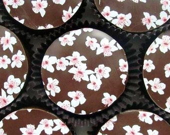 1 Dozen Cherry Blossoms Designer Oreos -Spring Easter Mother's Day Wedding Shower