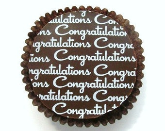 Gold CONGRATULATIONS Design -Chocolate Covered Oreos Graduation Wedding Shower Baby