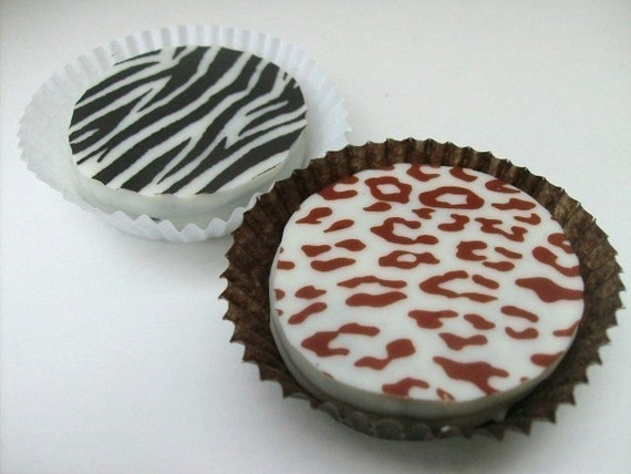 Designer White Chocolate Covered Oreo Cookies -Zebra and Leopard Prints