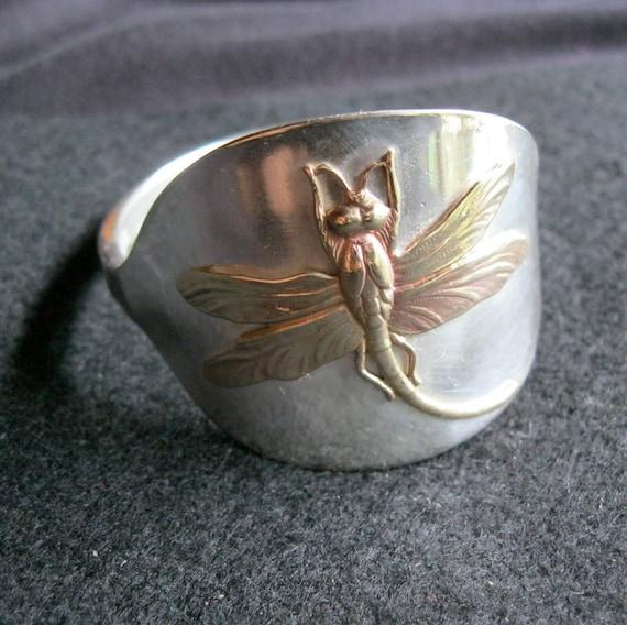 bracelet Dragonfly Silver Spoon Vintage Fork Cutlery