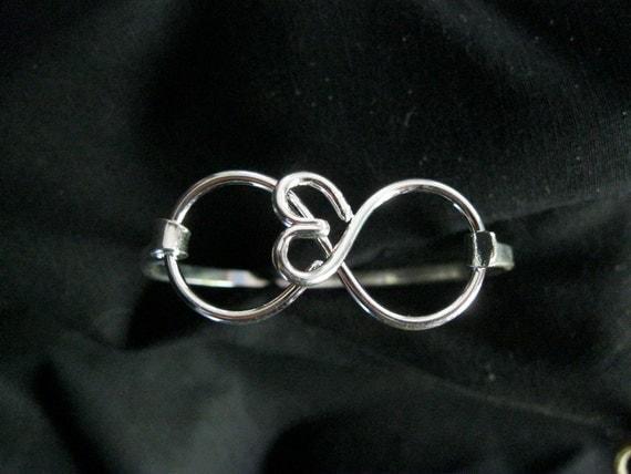 Infinity Infinite love heart Bracelet