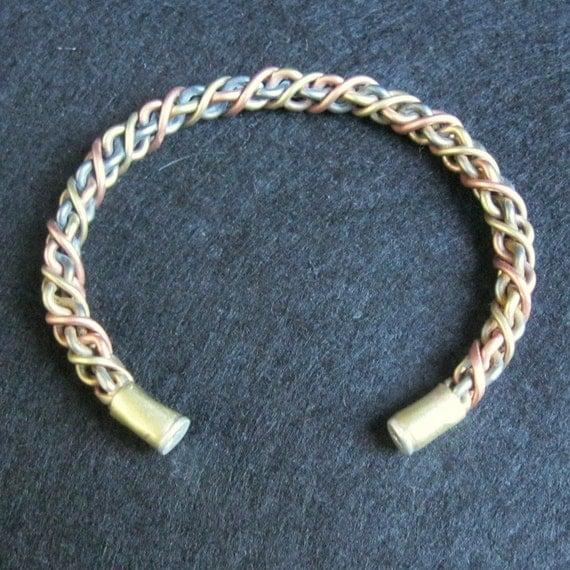 Celtic torc Tourque Bracelet Silver Copper Brass Iron  jewelry