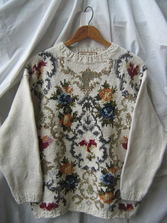 Crystal Kobe Oversize Floral Sweater