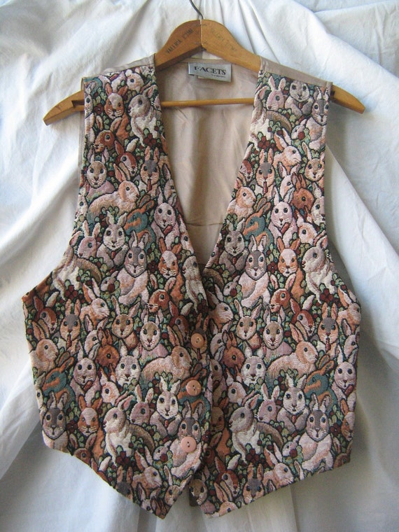 RESERVED for lydasparrow: Bunny Invasion Vest (1990s)