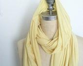Soft Lemon Light Weight Cotton Jersey Infinity Circle scarf