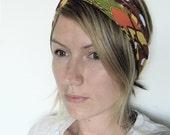 The Turban Headband- In Geometric Feather Print, bohemian style