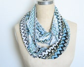 The Infinity Scarf, Missoni Inspired Print in Turquoise and Yellow