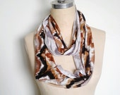 The Infinity Scarf, in Soft Jersey Earthy Chevron Print