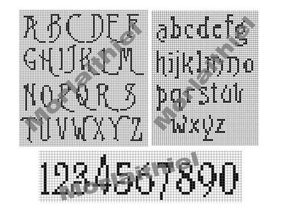 Instant Download Burton S Nightmare Filet Crochet By