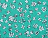 Mini Blooms on Teal - Japanese Cotton Fabric - Half Yard
