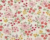 Antique Florals in Cherry - Japanese Cotton Fabric - Half Yard