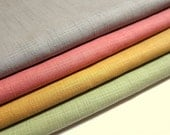 Japanese Cotton Fabric - Pastel Solids - Half Yard Bundle of 4 Colors