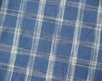 FREE SHIPPING Blue Sky Messy Stripes Fabric - Japanese Cotton Fabric (F025) - Fat Quarter