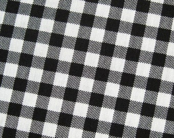 Black Checks Fabric By The Yard - Half Yard