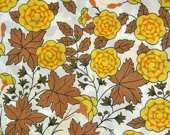 FREE SHIPPING Japanese Cotton Fabric - Yellow Garden Fabric (F066) Fat Quarter