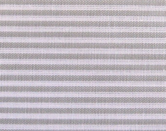 Japanese Fabric - Cotton Fabric By The Yard - Pin Stripes in Gray - Half Yard