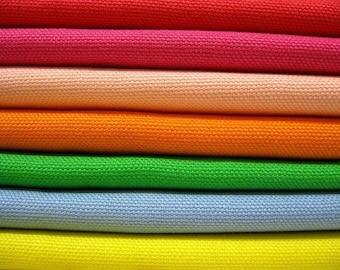 Summer Solids - Japanese Cotton Canvas Bundle - Half Yard Fabric Bundle of 7 Colors