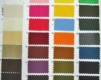 Cotton Canvas Fabric By The Yard - Pick Your Color - One Yard FABRIC SALE