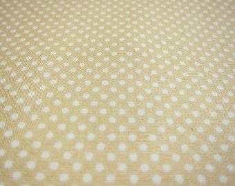 SALE Japanese Polka Dot Fabric - Dusty Creamy Beige Tiny Dots Fabric (TD15) - Half Yard