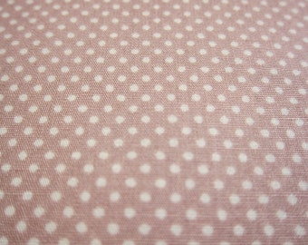 SALE Japanese Cotton Fabric - Dusty Lilac Tiny Dots Fabric By The Yard (TD11) - Half Yard