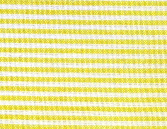 Japanese Fabric - Pin Stripes in Yellow - Cotton Fabric By The Yard - Half Yard