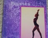 Keep Focused, gymnastic altered notebook, purple