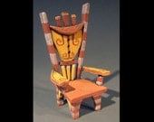 Distorted Roundabout  - Ceramic Chair Sculpture